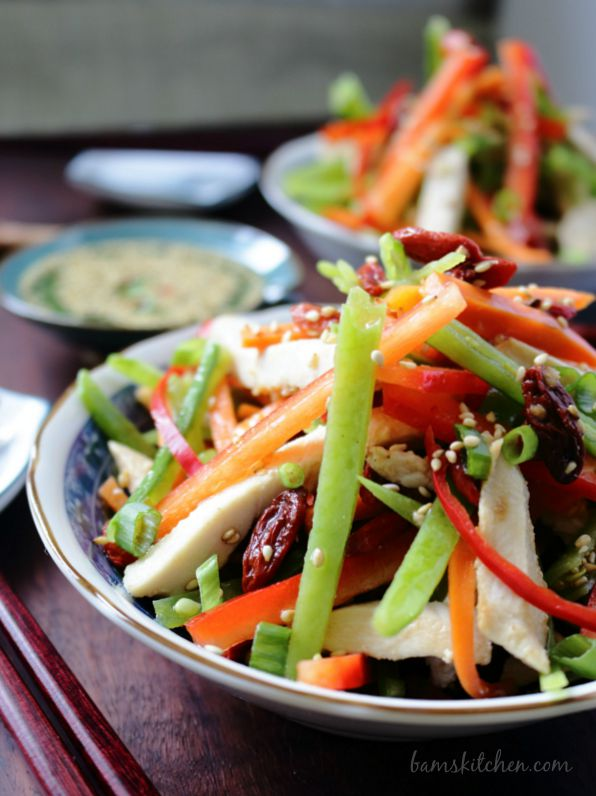 Chinese Salad with Goji Berries / https://www.hwcmagazine.com