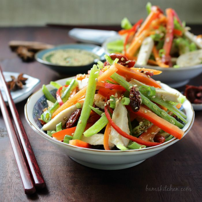 Chinese Salad with Goji Berries / http://bamskitchen.com