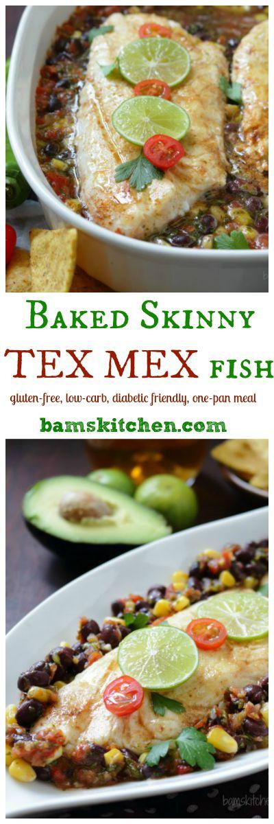 Baked Skinny TEX MEX Fish / http://bamskitchen.com