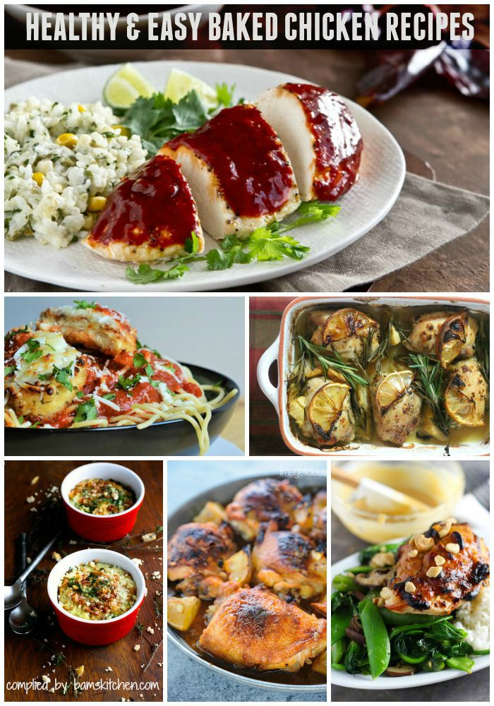 Healthy Baked Chicken Recipe Roundup