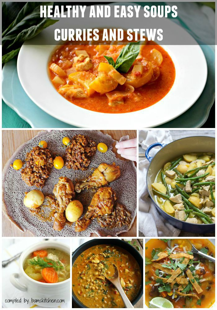 Healthy Chicken soups and stews.