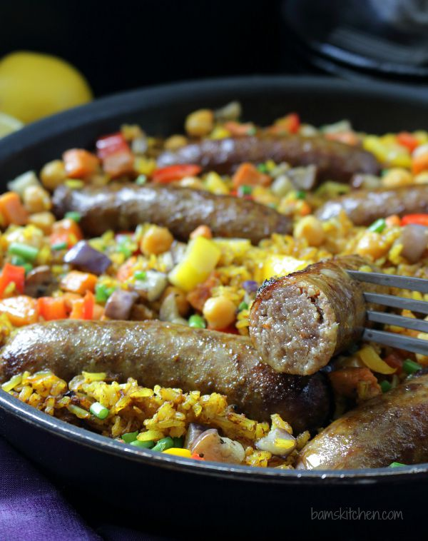 Moroccan Sausage Paella / https://www.hwcmagazine.com