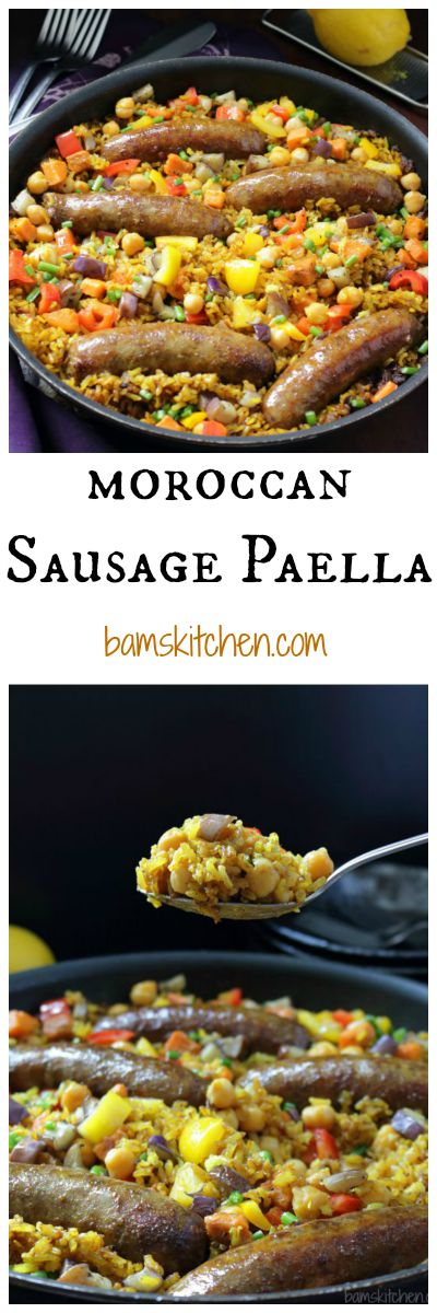 Moroccan Sausage Paella / http://bamskitchen.com