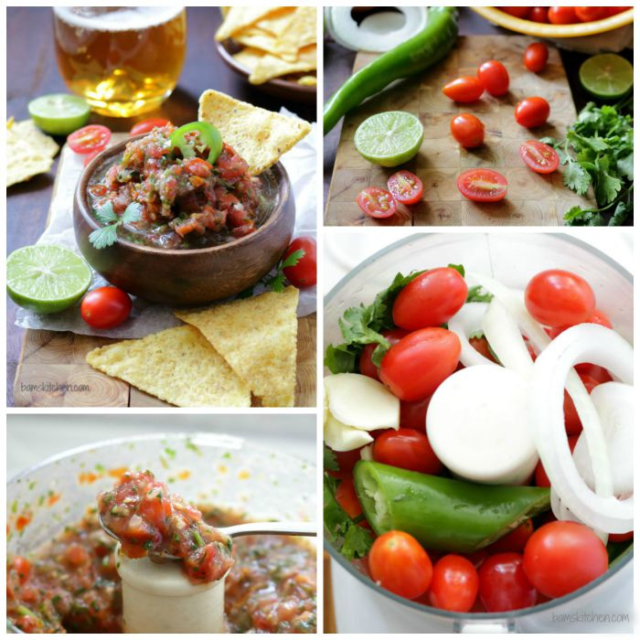 Step by step how to make the salsa