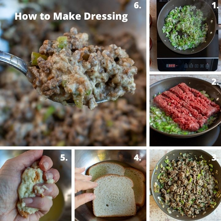How to make homemade French Canadian Meat dressing recipe  .