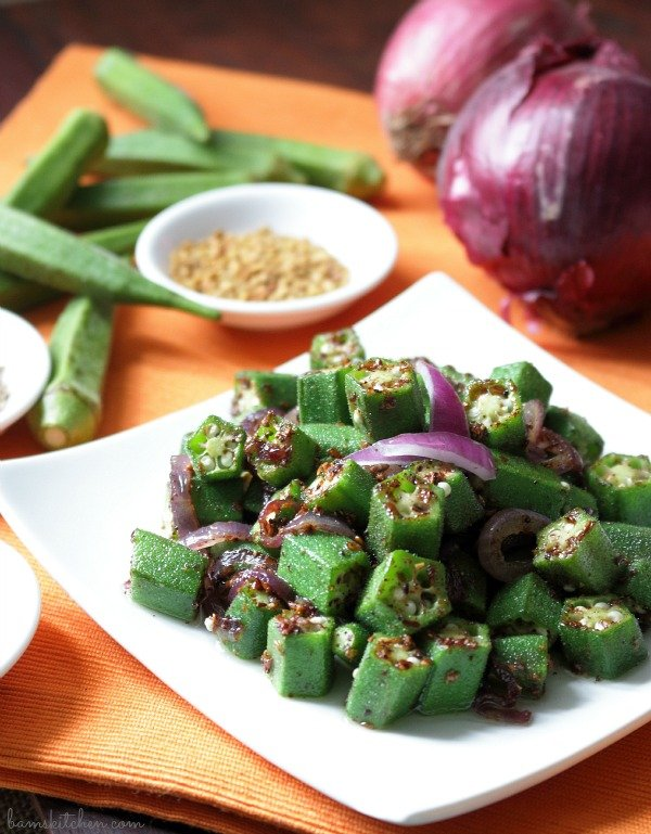 Paleo Indian Spiced Okra / http://bamskitchen.com