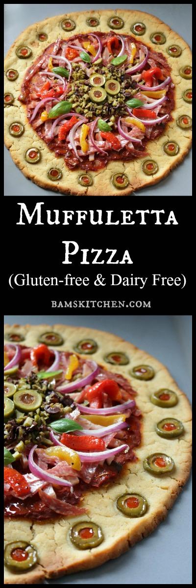 Muffuletta Pizza (Gluten-Free) / http://bamskitchen.com