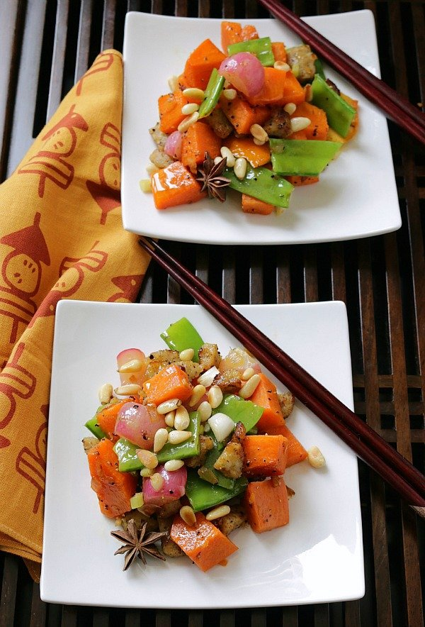 Orange Sweet Potato Stir Fry / https://www.hwcmagazine.com