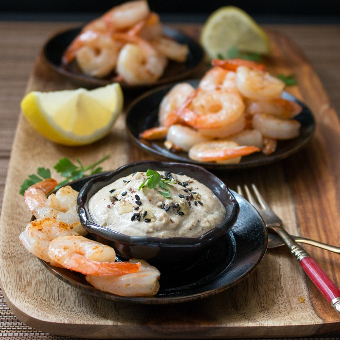 Spicy Shrimp and Creamy Tarator Dip / http://bamskitchen.com