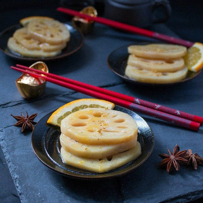 Braised Orange Anise Lotus Root / https://www.hwcmagazine.com