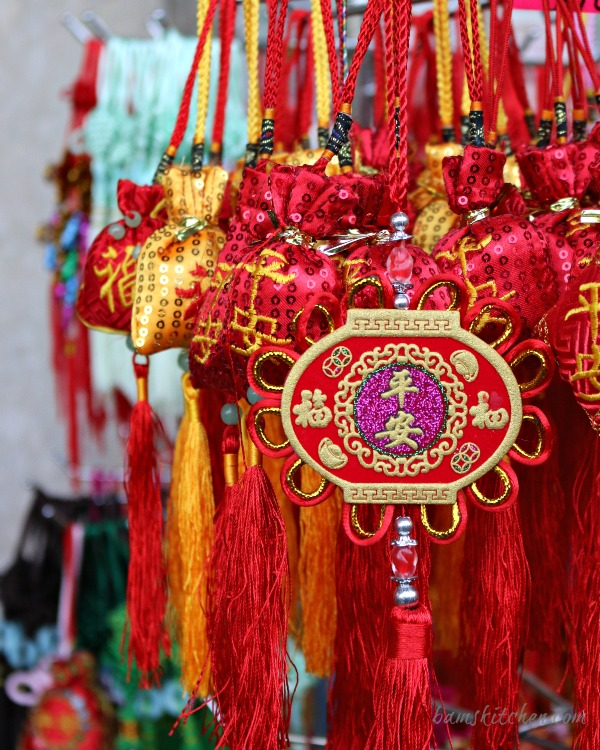 Chinese New Year Red Decorations for the front door.