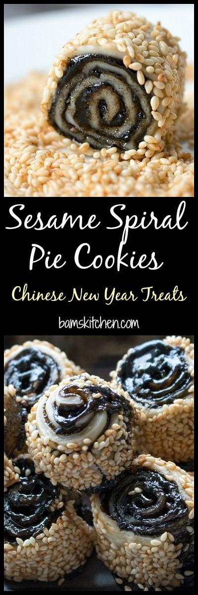 Sesame Spiral Pie Cookies / http://bamskitchen.com