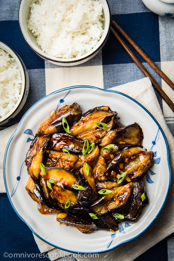 Chinese-Eggplant-with-Garlic-Sauce / Omnivores Cookbook