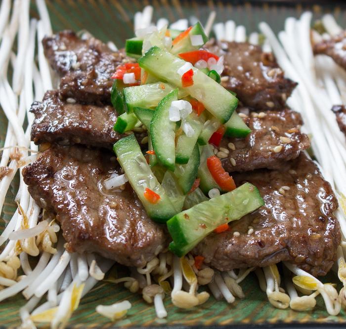 Korean BBQ Beef Kalbi / http://bamskitchen.com