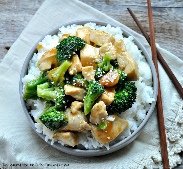 One-Skillet-Orange-Chicken-and-Broccoli / The Seasoned Mom