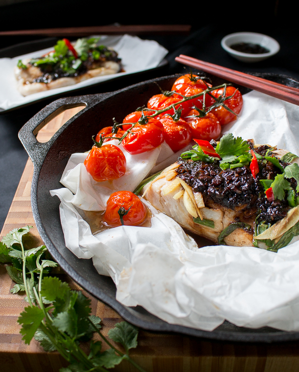 Baked Cod Parcels with Black Bean Sauce / https://www.hwcmagazine.com