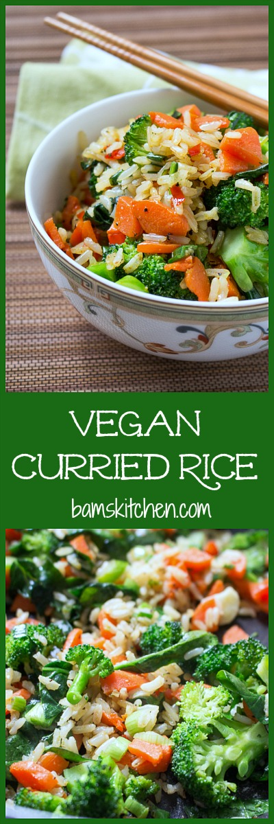 Vegan Curried Rice/ http://bamskitchen.com
