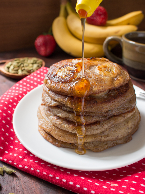 Gluten-Free Cardamom Banana Pancakes/ https://www.hwcmagazine.com