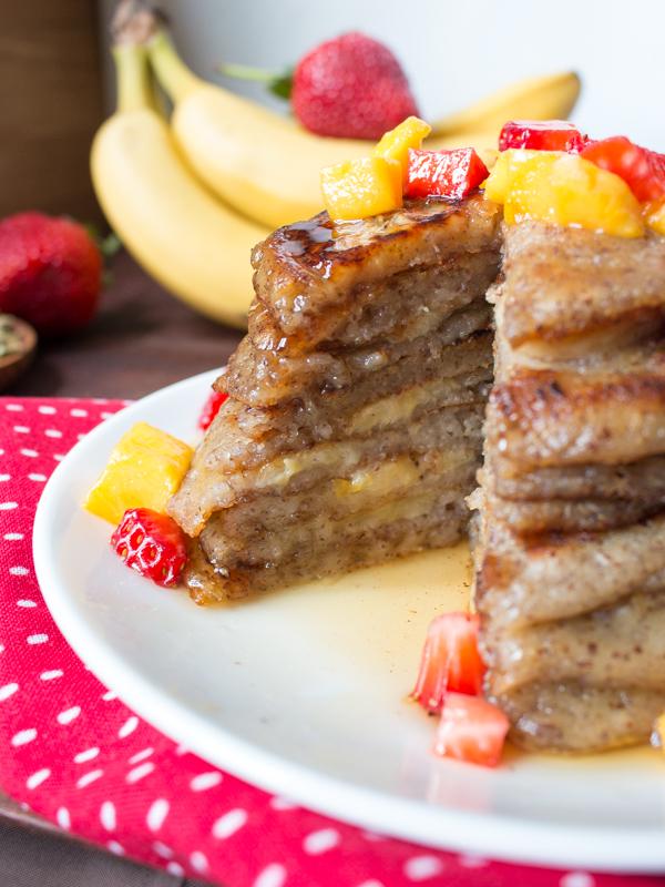 Gluten-Free Cardamom Banana Pancakes/ http://bamskitchen.com