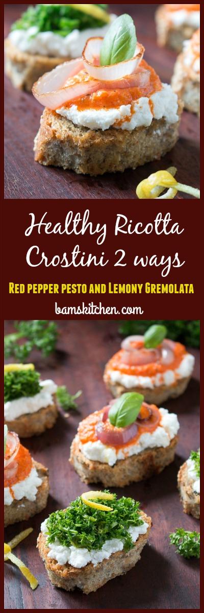 Healthy Ricotta Crostini / http://bamskitchen.com