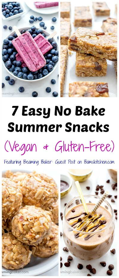 7 Easy No Bake Summer Snacks (Vegan & Gluten-Free) / http://bamskitchen.com