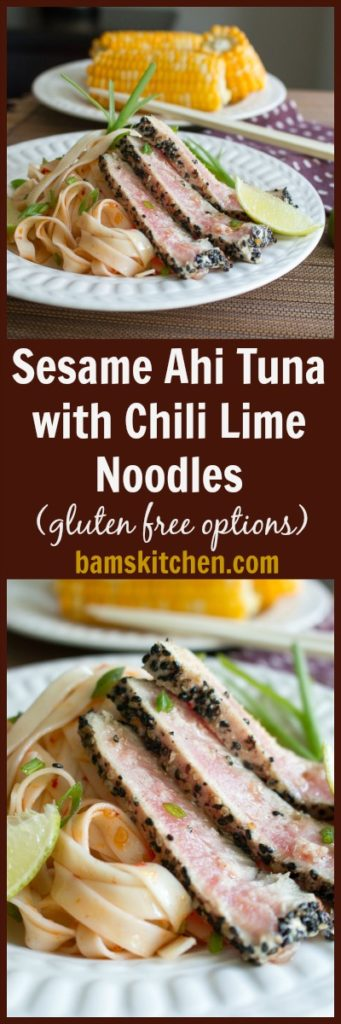 Sesame Ahi Tuna with Chili Lime Noodles / https://www.hwcmagazine.com