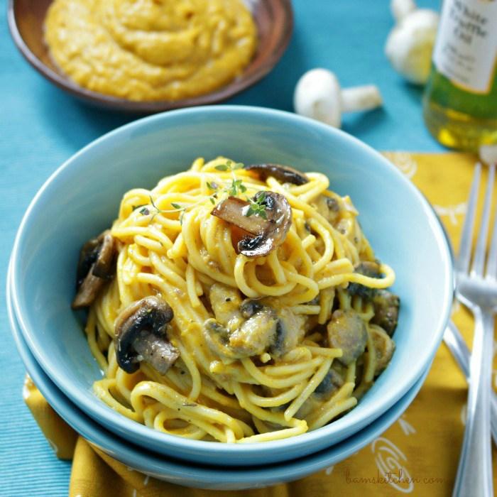 Creamy Kobocha Truffle Pasta / http://bamskitchen.com