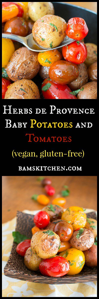 Herbs de Provence Baby Potatoes and Tomatoes / https://www.hwcmagazine.com
