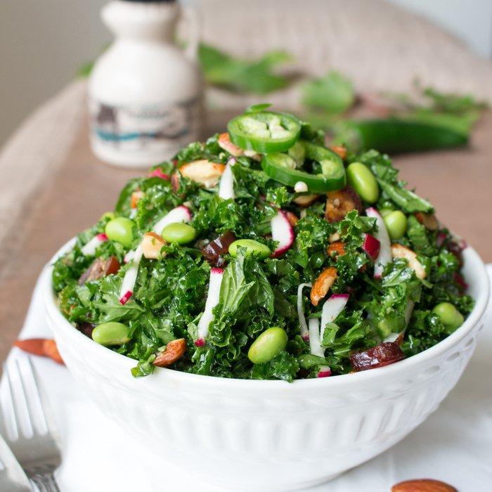 Autumn Kale Salad / http://bamskitchen.com