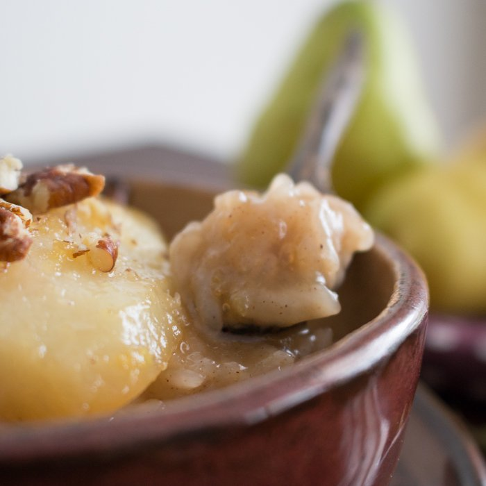 Coconut Rice Pudding with Cardamom Spiced Honey Pears ...
