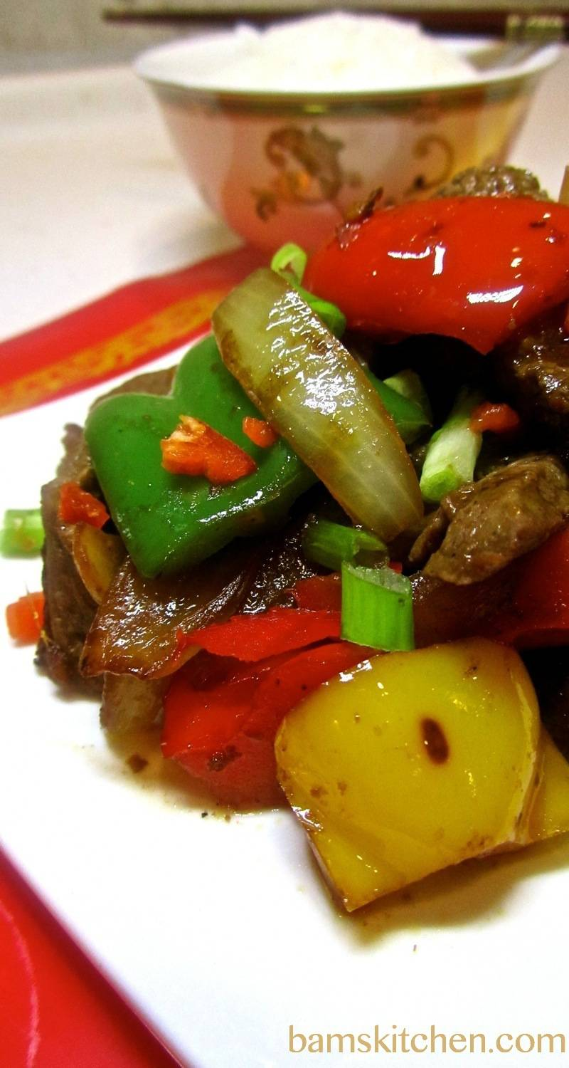 Beef and Peppers with Black bean Sauce/ http://bamskitchen.com
