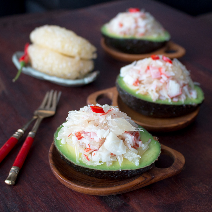 Thai-Pomelo-Crab-Salad-Avocado / http://bamskitchen.com