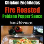 Chicken Enchiladas with Fire Roasted Poblanos / https://www.hwcmagazine.com
