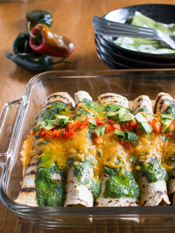 Chicken Enchilada with Fire Roasted Poblano Peppers / https://www.hwcmagazine.com