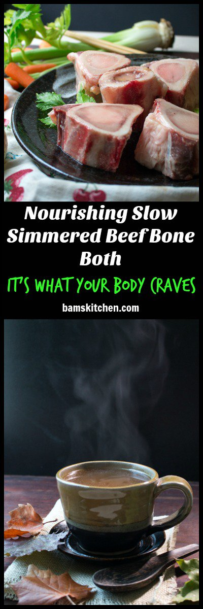 Nourishing Slow Simmered Beef Bone Broth / http://bamskitchen.com