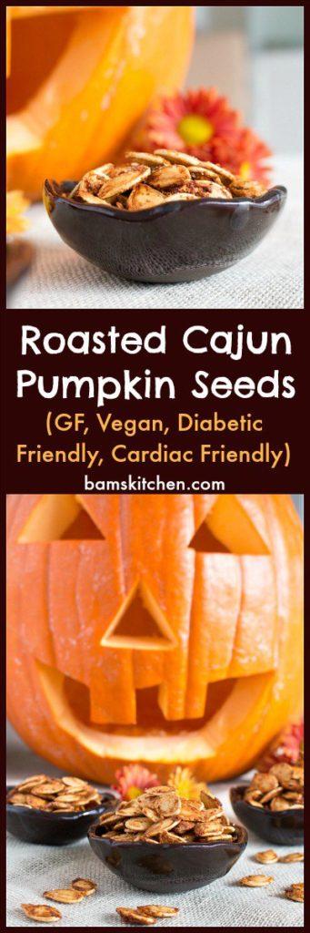 Roasted Cajun Pumpkin Seeds / https://www.hwcmagazine.com