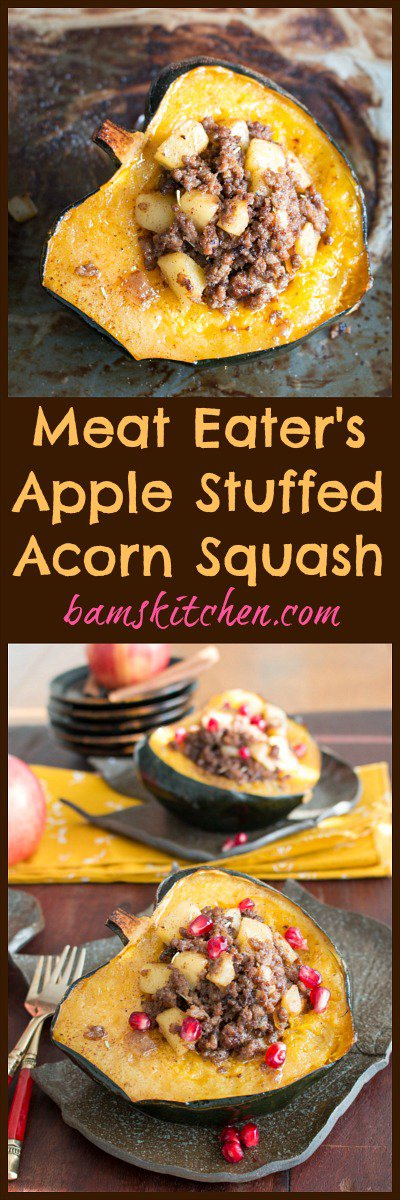 Meat Lover's Apple Stuffed Acorn Squash / http://bamskitchen.com