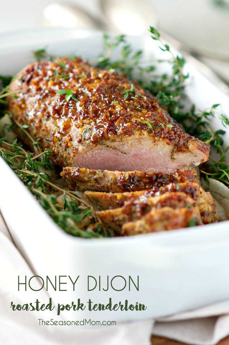 Honey Dijon Roasted Pork Tenderloin / http://bamskitchen.com