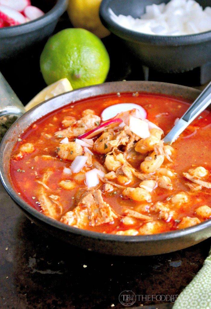 Pozole Mexican Soup / http://bamskitchen.com