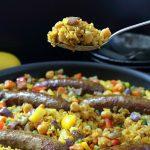 Moroccan Sausage Paella / https://www.hwcmagazine.com