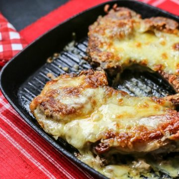 Cheesy Stuffed pork chops