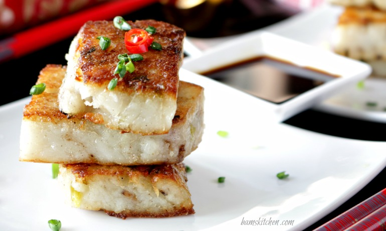 Chinese Vegan Radish Cake - Healthy World Cuisine