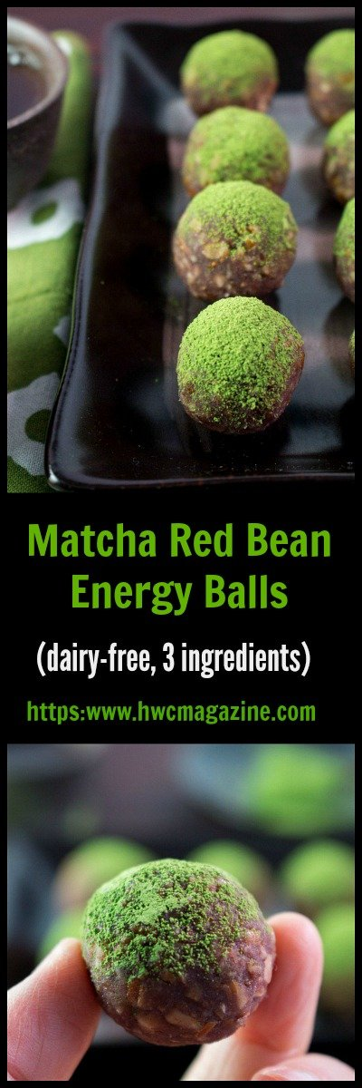 Matcha Red Bean Power Balls / https:www.hwcmagazine.com