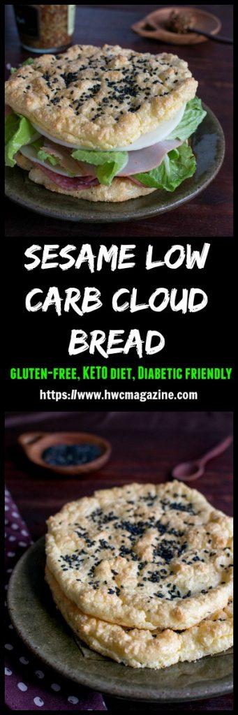 Sesame Low Carb Cloud Bread / https://www.hwcmagazine.com