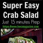 Super Easy Crab Salad / https://www.hwcmagazine.com