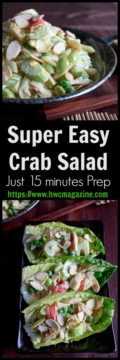 Super Easy Crab Salad / https://www.hwcmagazine.com