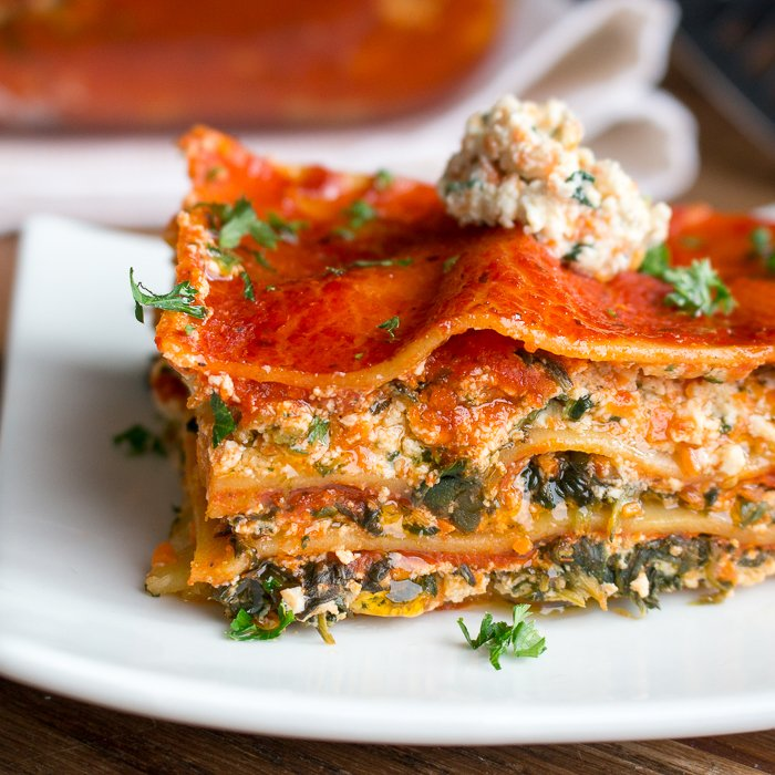 Vegetable Tofu Ricotta Lasagna / https://www.hwcmagazine.com