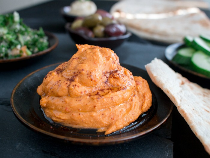 Better than Store Bought Red Pepper Hummus/ https://www.hwcmagazine.com