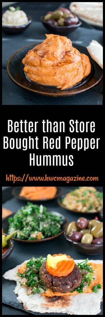 Better than Store Bought Red Pepper Hummus / https://www.hwcmagazine.com