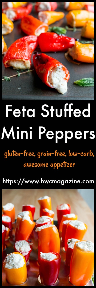 Feta Stuffed Mini Peppers / https://www.hwcmagazine.com